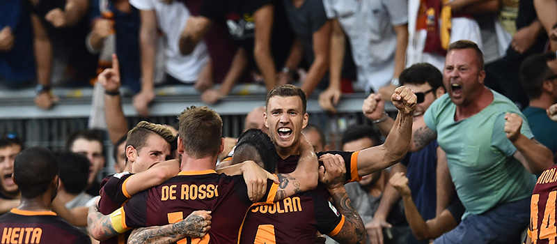 Roma-Juventus: 2-1. Pjanic e Dzeko regalano il primo successo stagionale ai giallorossi.