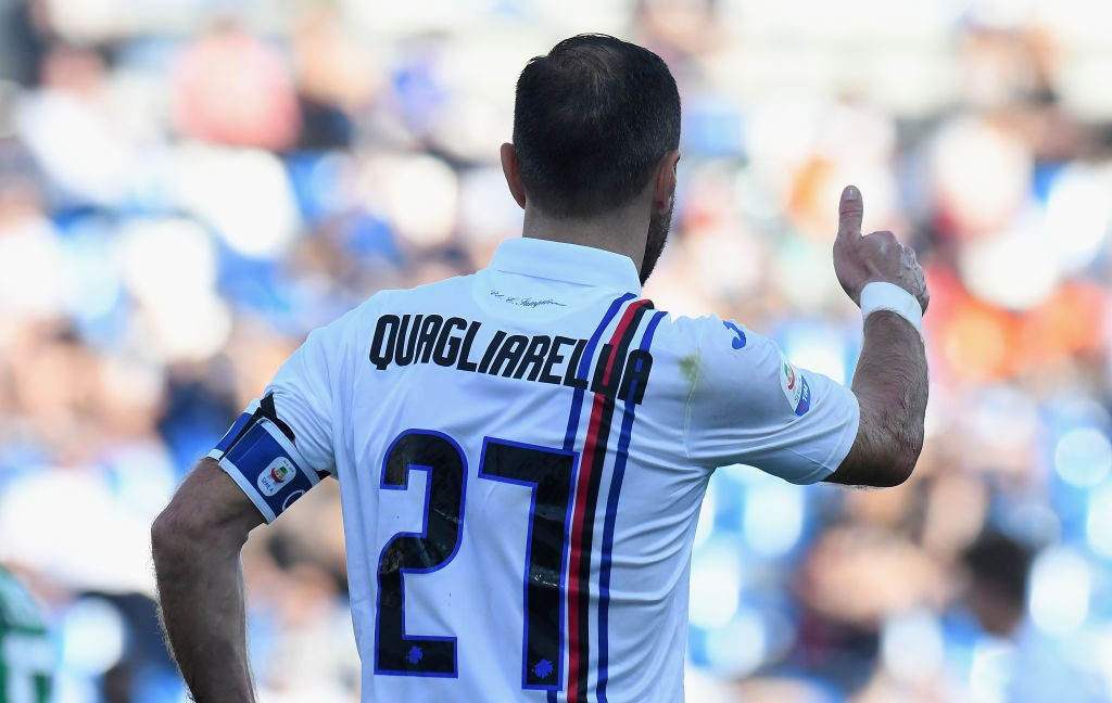 Serie A, Sassuolo-Sampdoria 3-5. Goleada al Mapei Stadium, ventunesimo gol per Quagliarella