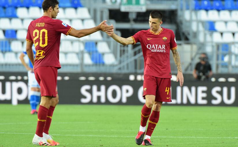 Le statistiche di Brescia-Roma 0-3: terzo clean sheet del 2020. Gli ospiti corrono meno, ma dominano la gara