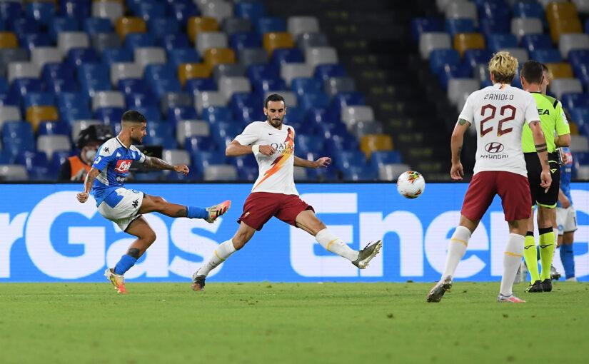 Le statistiche di Napoli-Roma 2-1: la difesa a tre ed il ritorno al gol non bastano, terza sconfitta consecutiva